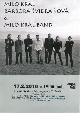 Milo Kráľ Band & Barbora Švidraňová [SCALA 17.2.2016 o 19:00]