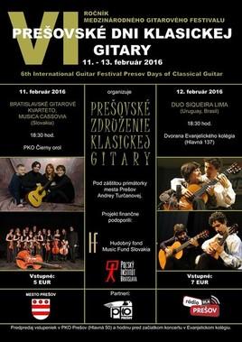 Prešovské dni klasickej gitary  2016 [PO 11.2.2016 o 18:30]