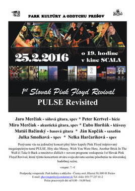 1st Slovak Pink Floyd Revival - PULSE Revisited [SCALA 25.2.2016 o 19:00]