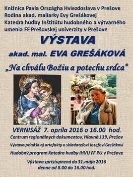 Eva Grešáková - Na chválu Božiu a pre potechu srdca [KPOH 8.4.2016]