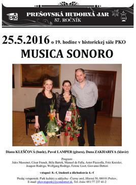 Musica Sonoro [PKO 25.5.2016 o 19:00]