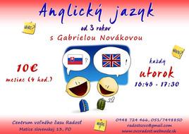 Anglický jazyk [PO 3.5.2016 o 16:45]