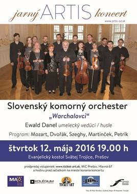 """Slovenský komorný orchester -""""Warchalovci"""" v Prešove po 26 rokoch! [ 12.5.2016 o 19:00]"""