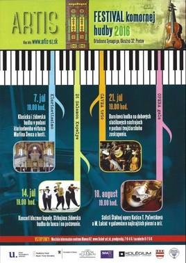 ARTIS festival komornej hudby [Synagóga 18.8.2016 o 19:00]