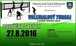 Volejbalový turnaj a rozlúčka s letom [ 27.8.2016 o 10:00]
