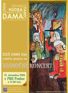 Vianočný koncert žiakov SZUŠ DAMA [PKO 21.12.2016 o 17:00]