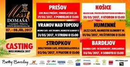 Miss Domaša 2017 [ZOC MAX 29.5.2017 o 15:00]