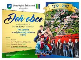Deň obce Vyšná Šebastová [iné 4.6.2017 o 14:00]
