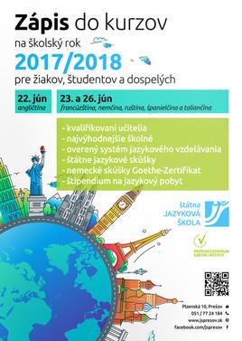 """Zápis na """"JAZYKOVKU"""" na školský rok 2017/2018"""