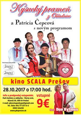Kysucký prameň z Oščadnice a Patrícia Čepcová [SCALA 28.10.2017 o 17:00]