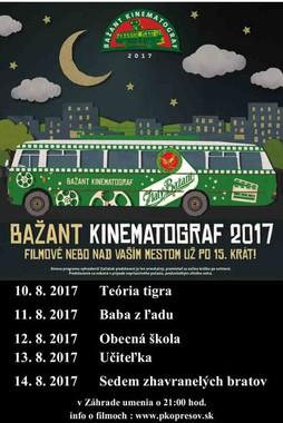 Bažant Kinematograf 2017 [Záhrada umenia 10.8.2017 o 21:00]