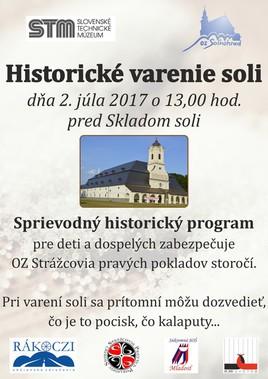 Historické varenie soli [STM Soľná Baňa 2.7.2017 o 13:00]