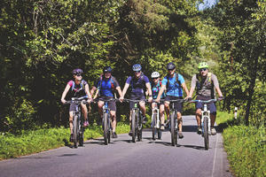 Cyklisti v Malom Lipníku, Foto: V. Slavik, KOCR SVS