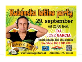 Kubánska latino party [Bowling 29.9.2017 o 21:00]