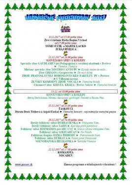 Vianočný program 2017
