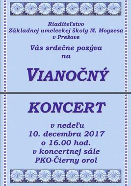 Vianočný koncert ZUŠ M. Moyzesa
