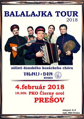 Balalajka tour 2018 [PKO 4.2.2018 o 18:30]