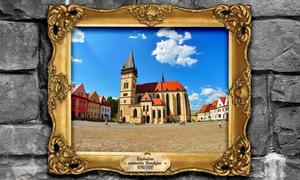 Radničné námestie Bardejov jeden z obrazov v expozícii PSK