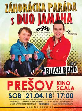Záhorácka Paráda s Duo Jamaha a hosťom Black Band [SCALA 21.4.2018 o 17:00]