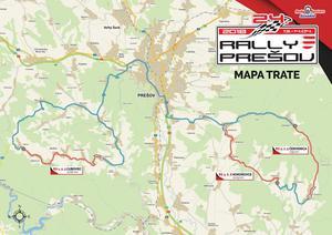 Mapa trate 24. Rally Prešov