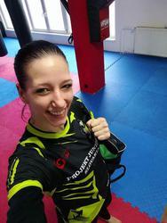Lucia po tréningu, vždy s úsmevom
