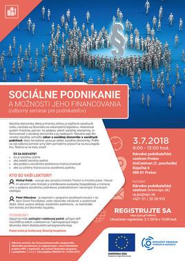 Sociálne podnikanie a možnosti jeho financovania [PO 3.7.2018 o 09:00]