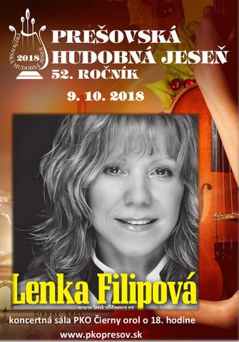 Prešovská hudobná jeseň 2018 - Lenka Filipová [Čierny orol 9.10.2018 o 18:00]