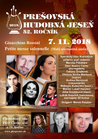 Prešovská hudobná jeseň - Gioacchino Rosini [PKO 7.11.2018 o 19:00]