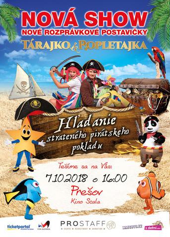Tárajko a Popletajka - Hľadanie strateného pirátskeho pokladu [SCALA 7.10.2018 o 16:00]