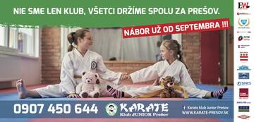 Nábor Presov Karate Kids 2018 otvorený v telocvičniach v celom PREŠOVE [PO 30.9.2018]