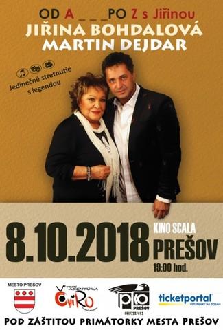 Od A po Z s Jiřinou BOHDALOVOU [SCALA 8.10.2018 o 19:00]
