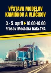 Výstava modelov kamiónov a vláčikov