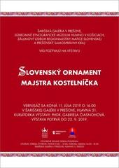 Slovenský ornament Majstra Kostelníčka