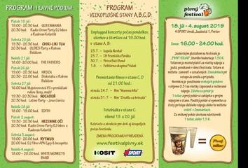 Pivný festival - program