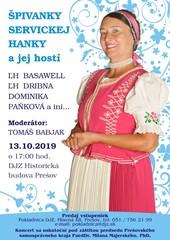 Koncert Hanky Servickej_plagát