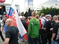 Protest občianského združenia NSS proti násiliu