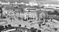 Námestie mieru (veľká križovatka - pohľad na Levočskú ulicu)
