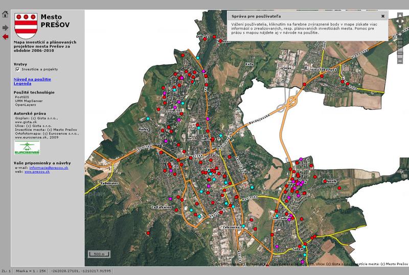 Mesto Prešov zverejnilo mapu investícií 8fe7bf32caf