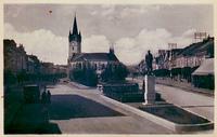 Masarykova ulica a pomnik T.G. Masaryka (1938)