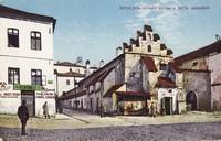 Caraffova väznica na dobovej kolorovanej pohľadnici