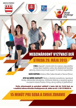 World challenge day [pred ĽB 29.5.2013 o 10:00]