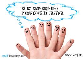 Kurz slovenského posunkového jazyka [PO 1.7.2014]