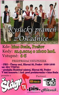 Kysucký prameň z Oščadnice [SCALA 21.9.2014 o 16:00]