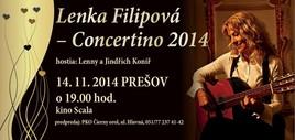 Lenka Filipová – Concertino 2014 [SCALA 14.11.2014 o 19:00]