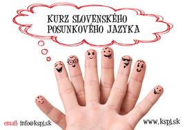 Jesenný kurz slovenského posunkového jazyka [PO 1.10.2014]