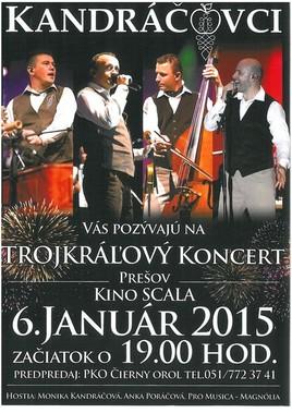 Kandráčovci - Trojkráľový koncert II [SCALA 6.1.2015 o 19:00]
