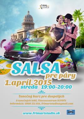 Tanečný kurz pre dospelých: Salsa pre páry [ 1.4.2015 o 19:00]