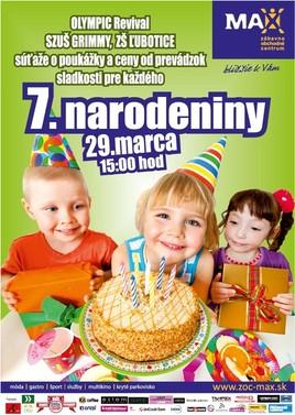 7.narodeniny [ZOC MAX 29.3.2015 o 15:00]