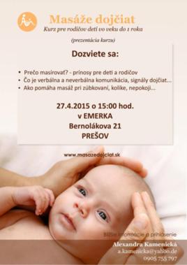 Masáže dojčiat [PO 27.4.2015 o 15:00]
