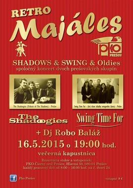 Retro Majáles  Shadows & Swing & Oldies [PKO 16.5.2015 o 19:00]